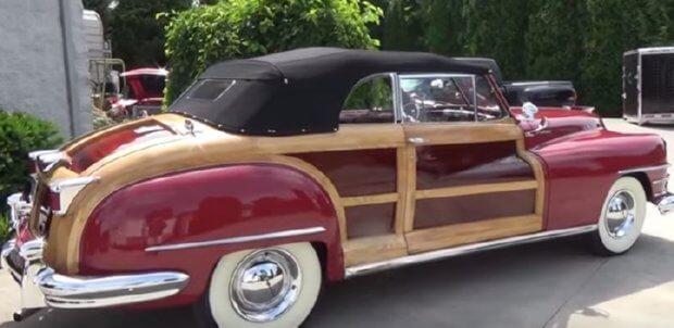 47 Chrysler Woodie convertible